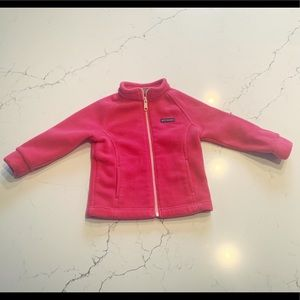 Toddler Pink Columbia Fleece Jacket 18-24 M.